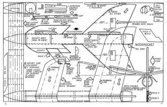 Moon Rocket model airplane plan