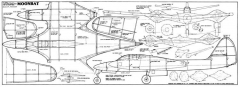 McDonnell XP-67 Moonbat model airplane plan