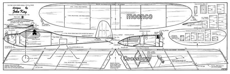 Moonco & Crossbow model airplane plan