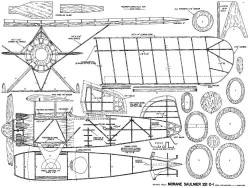 Morane Saulnier 221 C-1 model airplane plan
