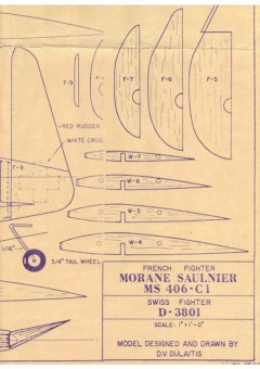 Morane Saulnier MS-406 model airplane plan