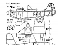 Morane Saulnier 325 model airplane plan