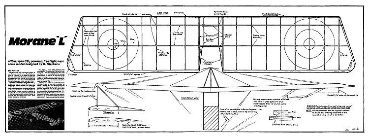 Morane L model airplane plan