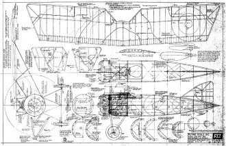 Morane Saulnier A-1 FSI-M3 model airplane plan