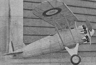 Morane Saulnier Pursuit model airplane plan