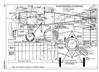 Morane Scout Monoplane model airplane plan