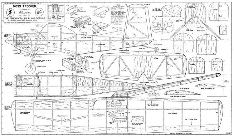 Moss Trooper model airplane plan