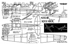 Moth Minor Modelair model airplane plan