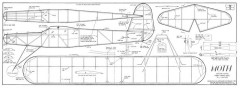 Moth vintage model airplane plan