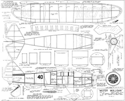 Mister Mulligan model airplane plan
