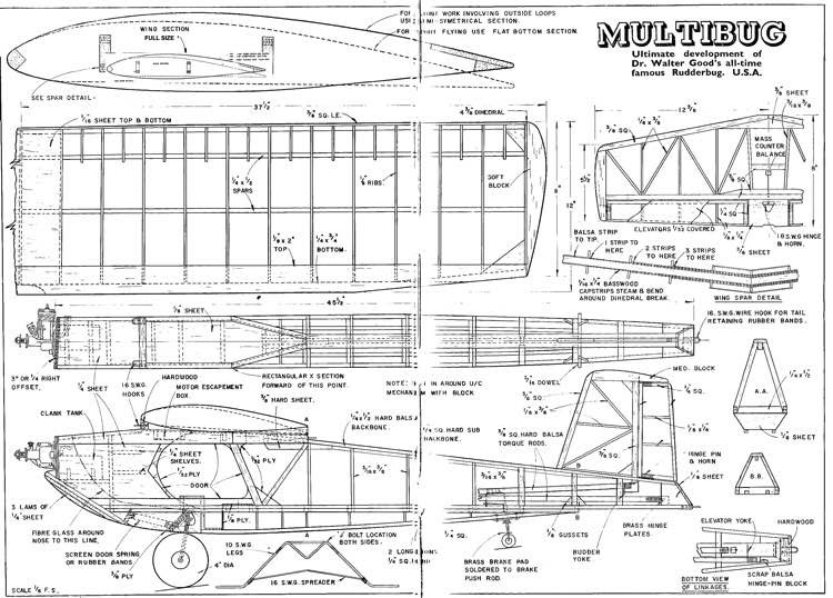 Multibug model airplane plan