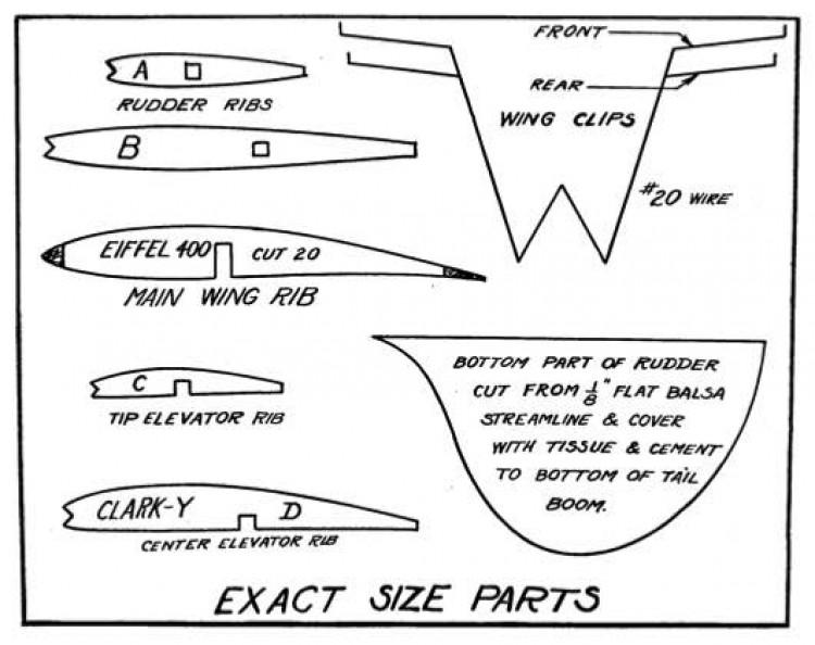 Mulvihill p2 model airplane plan