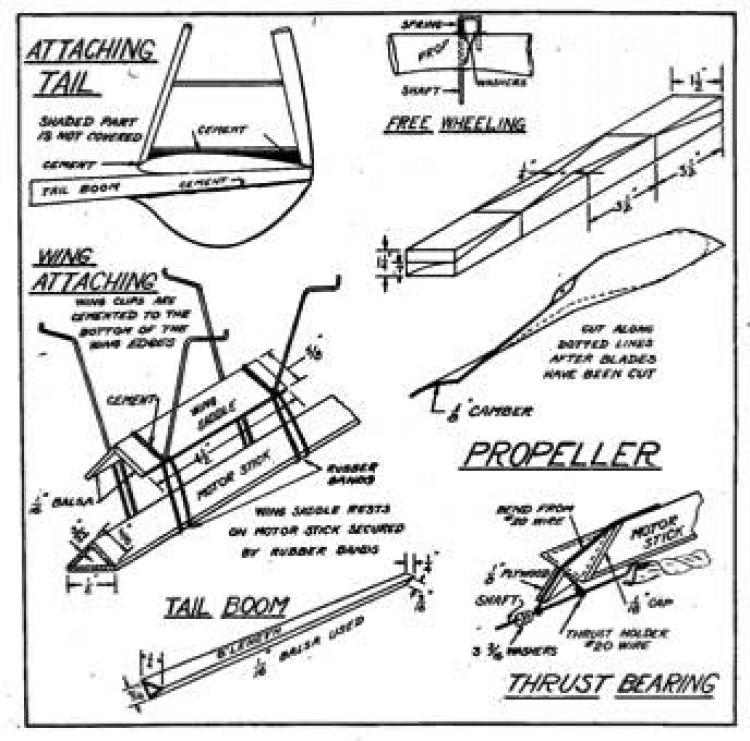 Mulvihill p3 model airplane plan