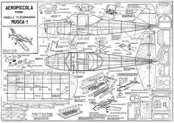 Musca-1 model airplane plan