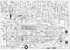 Messerschmitt BF110 model airplane plan