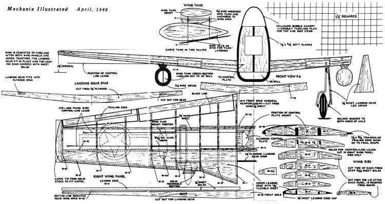 Mustang 2 model airplane plan