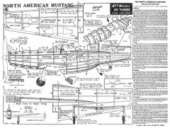 Mustang 3 model airplane plan
