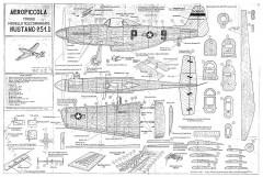 Mustang P.51.D model airplane plan