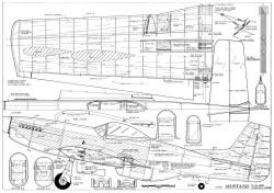 Mustang Stunt Al Rabe model airplane plan