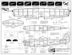 NA Trainer model airplane plan