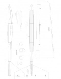 NINJA Model 1 model airplane plan