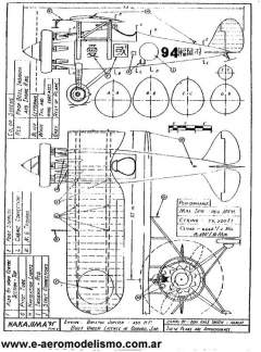 Nakajima model airplane plan