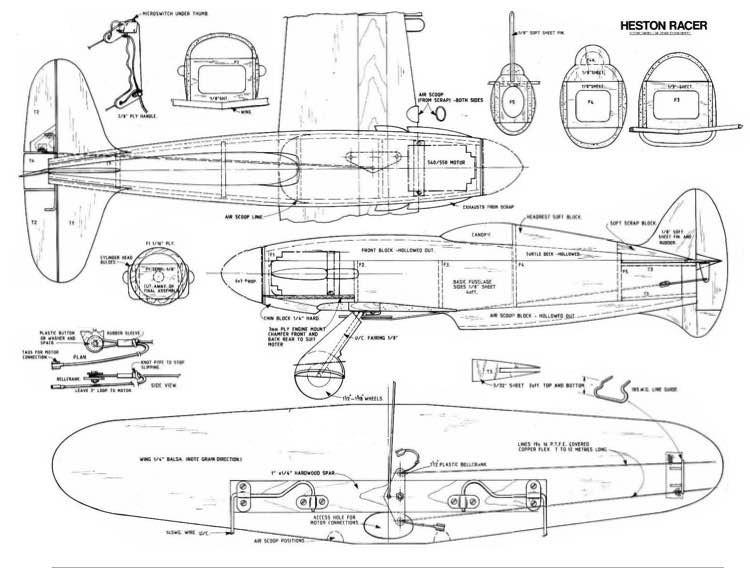 Napier Heston model airplane plan