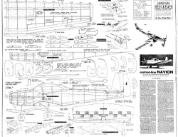 Navion model airplane plan
