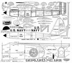 Navy Racer model airplane plan