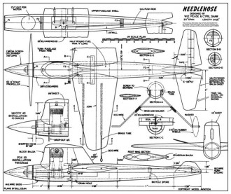 Needlenose model airplane plan