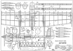 Netopyr model airplane plan