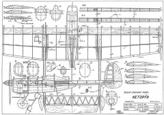 Netopyr model airplane plan