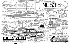 New Taylor E-2 Cub model airplane plan