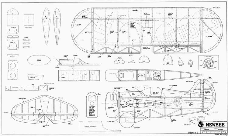NewBee p1 model airplane plan