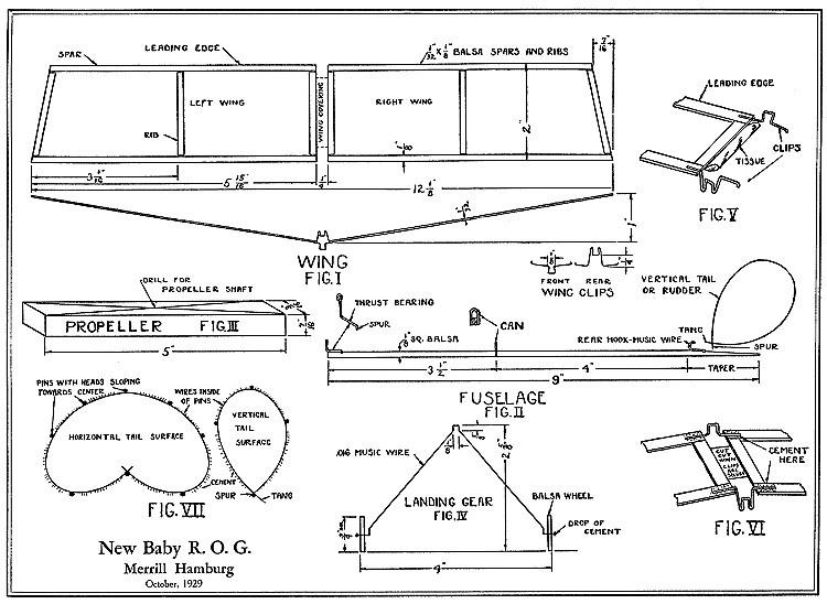 New Baby ROG model airplane plan