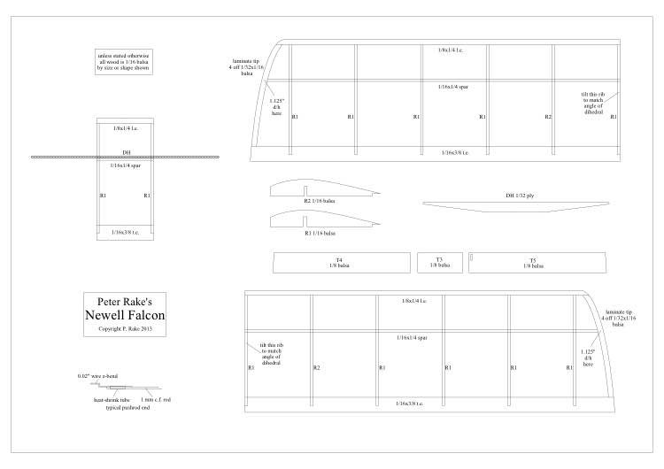 Newell Falcon model airplane plan