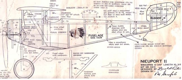 Newport II model airplane plan