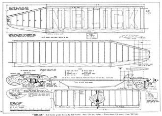 Niblick model airplane plan