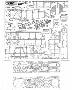 Nieuport 27 model airplane plan