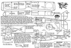 Nieuport 17 Peerless model airplane plan