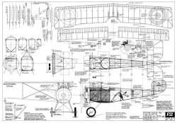 Nieuport 17c model airplane plan