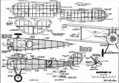 Nieuport 28-FM-1957-05 model airplane plan