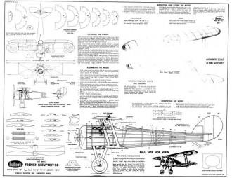 Nieuport 28 18in model airplane plan