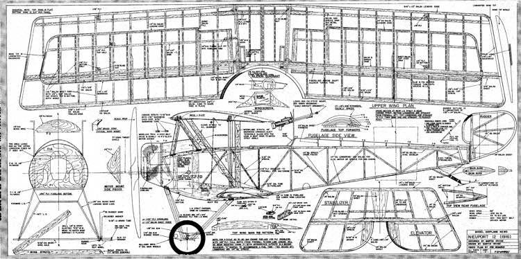 Nieuport Typ 12 Bigel model airplane plan