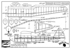 Night Hawk model airplane plan