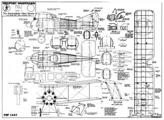 Nighthawk model airplane plan