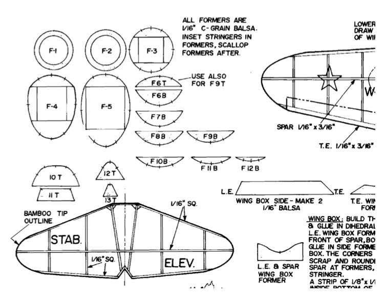 Nikitin-Schevenchenko IS-4 model airplane plan