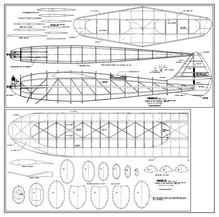 Nimbus model airplane plan