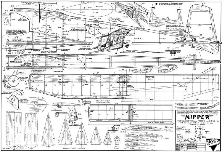 Nipper model airplane plan