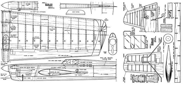 Nobler MAN 1952 model airplane plan